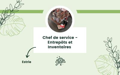 Chef de service – Entrepôts et Inventaires